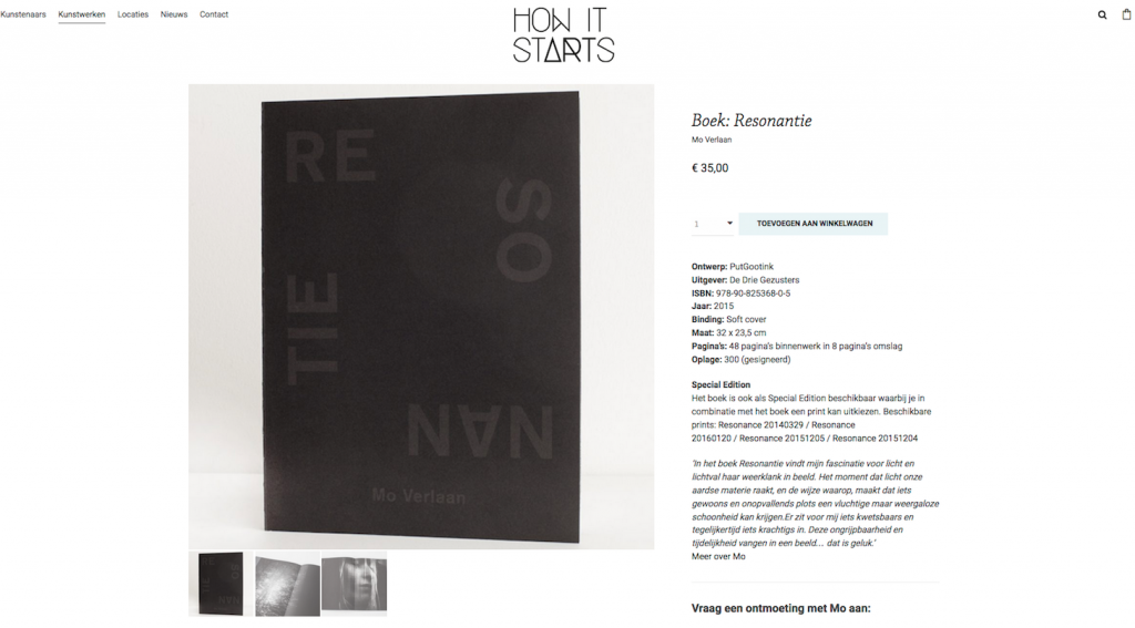 Book Resonantie/Resonance for sale