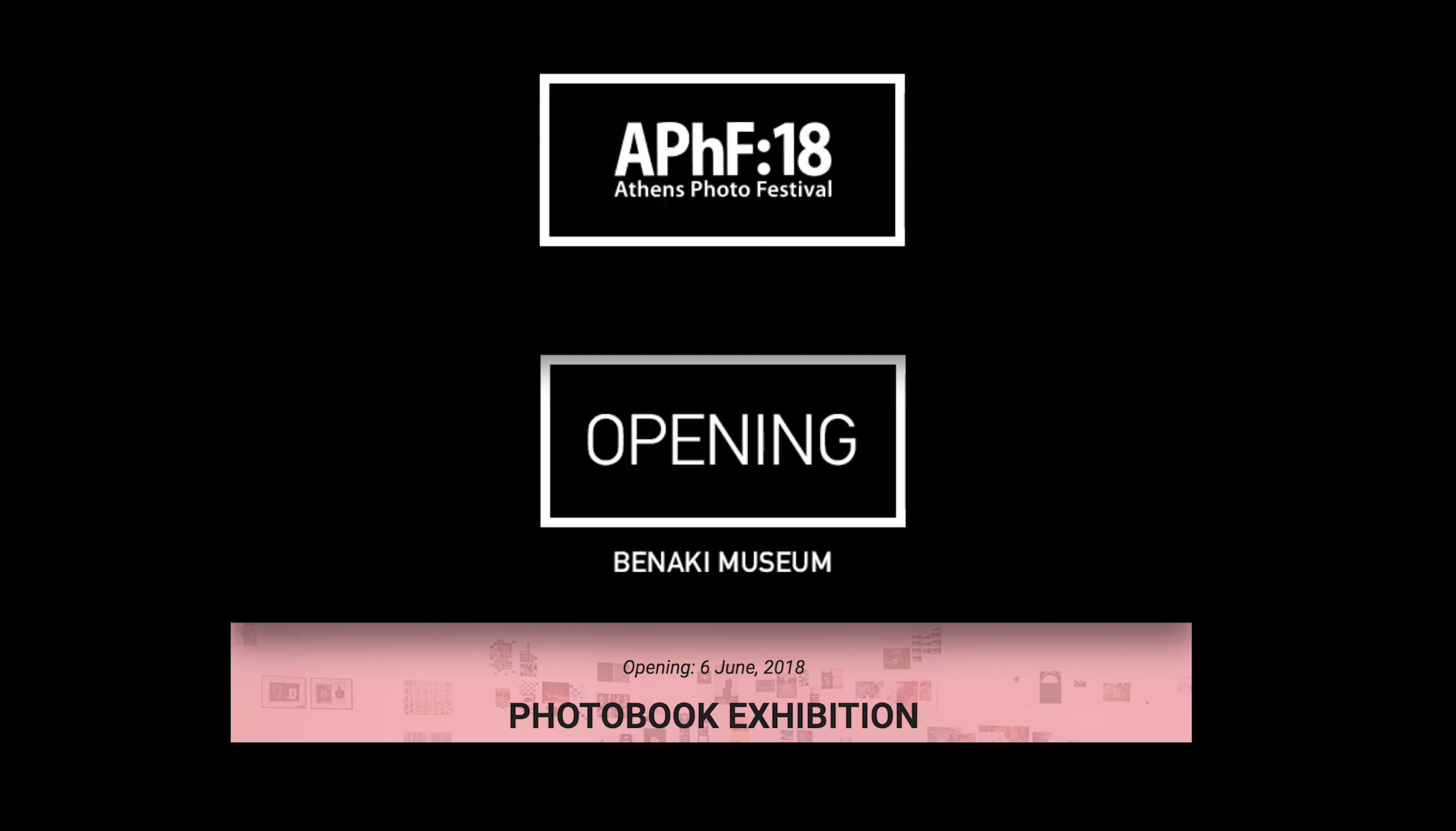 Athens Photo Festival 2018 Photobook Exhibition.